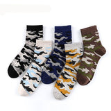 Men's Camo, Cotton Blend Socks (5 pair)-Snazzy Socks