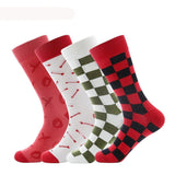 ♦️ Men's Streetwear Fashion Checkered Socks-Snazzy Socks