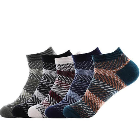 Men's Fashion Cotton Socks (5 Pairs)-Snazzy Socks