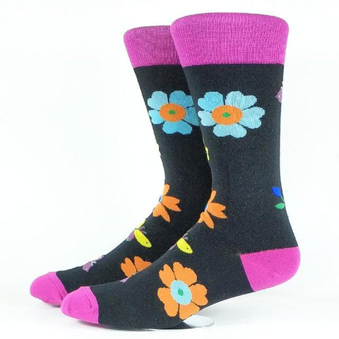 🌸 Men's Flower Dress Socks, Size 7-12-Snazzy Socks