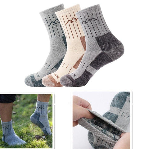 🧗‍♂️ Men's High Quality, Durable Socks for Hiking, Sports or Everyday (Pair)-Snazzy Socks