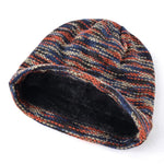 Men's Slouch Beanie, Knitted Wool, One Size, Reversible-Snazzy Socks