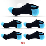 Men's Low Show Cotton Socks, Solid Colors, (5 Pairs)-Snazzy Socks