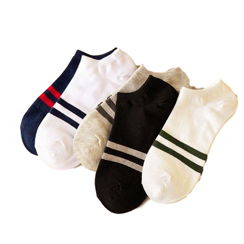 Men's No Show Cotton Socks, One Size-Snazzy Socks
