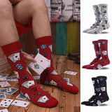 🃏 Men's Novelty Poker Socks, 3 Colors-Snazzy Socks