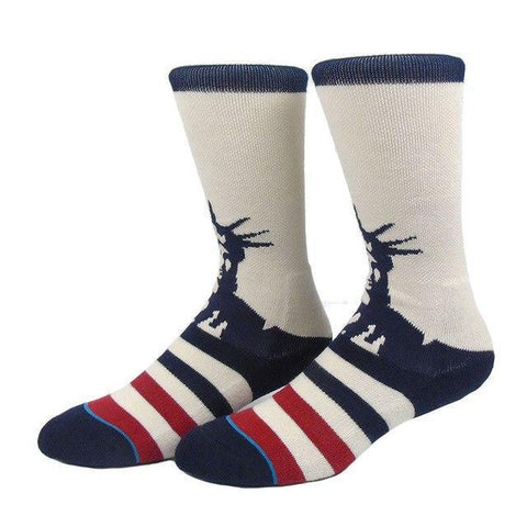 Men's Statue of Liberty Socks, Size 8-12-Snazzy Socks
