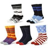 🇺🇸 Men's Striped Socks, 5 Colors, Size 7-12-Snazzy Socks