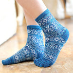 Toe Socks Blue
