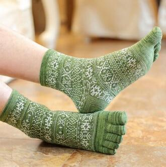 Toe Socks Green