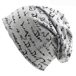 New for 2018, Women/Men Script Beanie Hat-Snazzy Socks