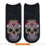 💀 NEW for Fall 2018, No Show, Sugar Skull Socks (Pair)-Snazzy Socks
