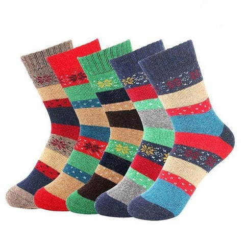 🐰 New! Women's Thick Rabbit Wool Socks, 5 Pairs-Snazzy Socks