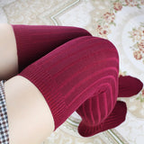 Women's Cotton Over the Knee High Socks, 8 Colors