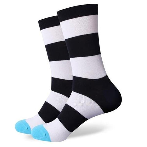 Men's Wide Striped Socks