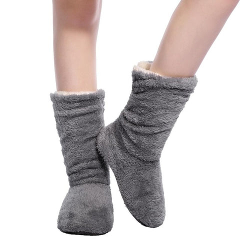 Women's fuzzy boot slippers