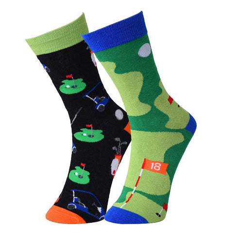 ⛳ Men's Fun, Golf Socks, 2 Designs