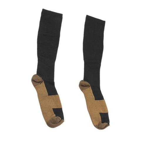 Men/Women's Copper Infused Compression Socks, 2 Sizes