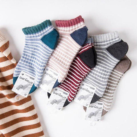 Women's Striped Ankle Socks