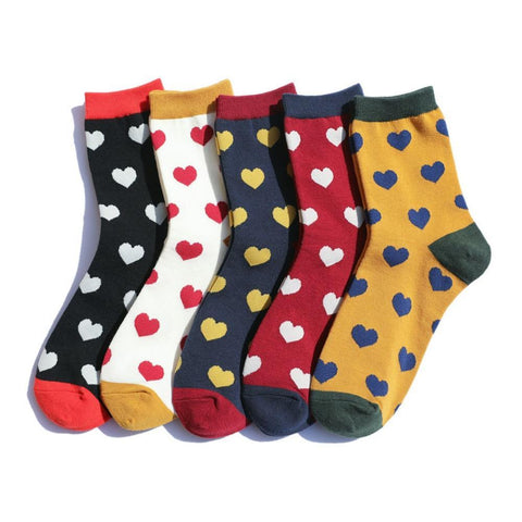 Women's Love Socks with Hearts