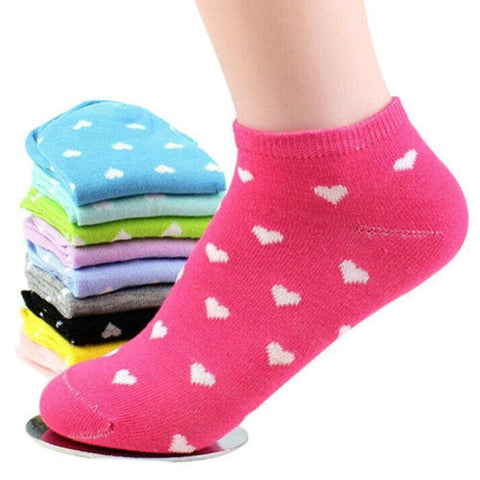 Ankle Socks with Hearts