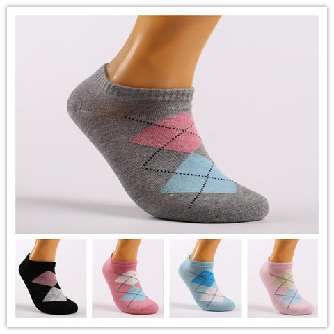 Women's Argyle Ankle Socks