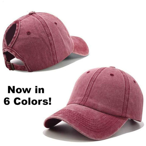 Women's Ponytail Baseball Hat