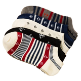 ⚓ Sailor John Anchor Socks, No Show-Snazzy Socks