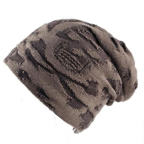Skull Pattern Beanie for Men, One Size, 3 Colors-Snazzy Socks