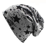 ⭐ Star Pattern Cotton Beanies, Men/Women, 6 Colors-Snazzy Socks
