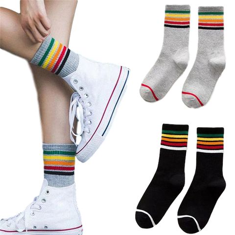 🌈 Rainbow Striped Socks -Snazzy Socks