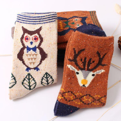 Animal Print Wool Socks