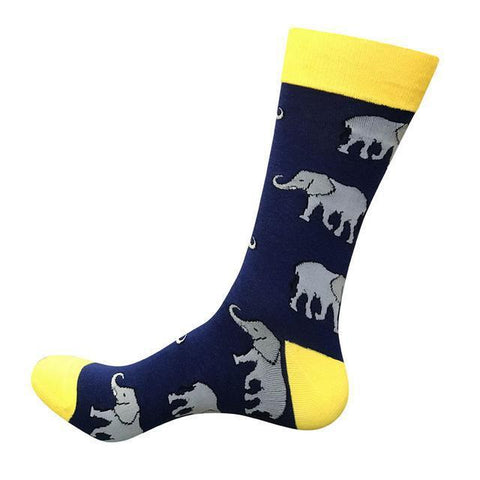 🐘 Women/Men's Elephant Socks, Size 6-11-Snazzy Socks