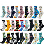 Women/Men's Socks, Multiple Patterns (Sushi, Fruit, Sheep, Cats, & More)-Snazzy Socks