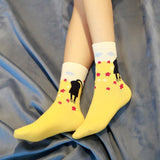 🐱 Women's Adorable Cat Socks, For the Cat Lover. (Pair)-Snazzy Socks