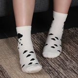 🌧️ Women's Cartoon Drawing Cloud Socks, Size 4-8-Snazzy Socks