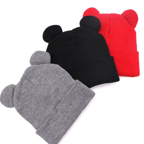 🐯 Women's Cat Ear Winter Beanie Hat, 3 Colors-Snazzy Socks