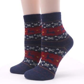 🦌 Women's Christmas Holiday Socks, Reindeer, Multiple Colors-Snazzy Socks