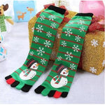 🎅 Women's Christmas Toe Socks, 6 Holiday Designs-Snazzy Socks