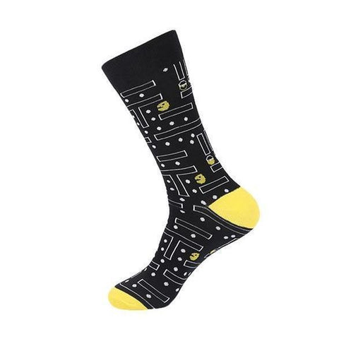 🎮 Women's Cotton Pac-Man Arcade Socks, Size 6-10-Snazzy Socks