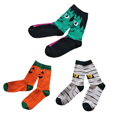 🎃 Women's Cute Halloween Novelty Socks (Pair)-Snazzy Socks
