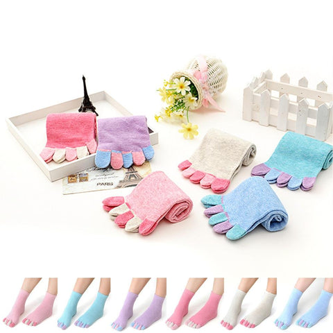 👣 Women's Five Finger Toe Socks, 6 Colors-Snazzy Socks