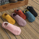 Women's Fuzzy, Fleece Sock Slippers, 6 Colors, Size 6-10-Snazzy Socks