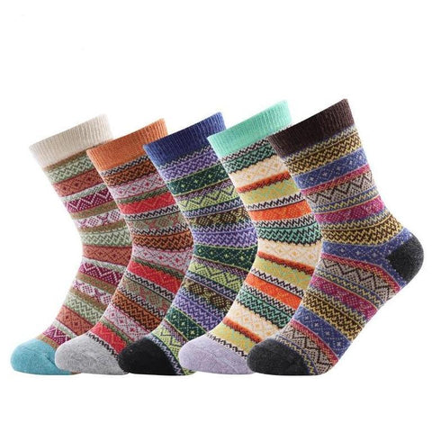 Wool Retro Style Socks