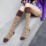 Women's Knee Socks with Letters, 3 Colors