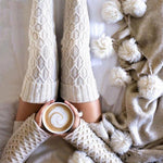 Women's Knit Over the Knee, Thigh High Socks-Snazzy Socks