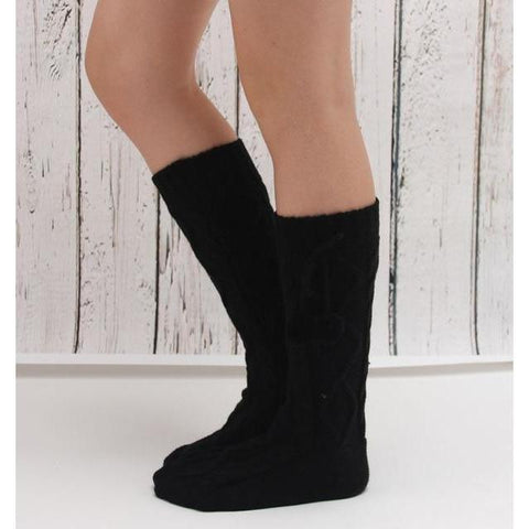 Women's Knitted Boot Socks