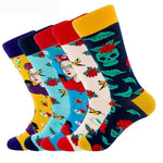 🌺 Women's Lolita Style, Flower, Skull Fashion Socks, 5 Designs-Snazzy Socks