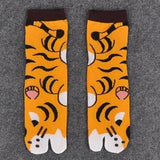 Women's Short, Printed Toe Socks, Multiple Designs-Snazzy Socks