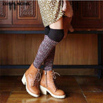 Women's Thick Retro Style, Over The Knee Socks, 4 Colors-Snazzy Socks
