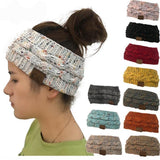 Women's Warm Cable Knit, Fuzzy Lined Ear Warmer Headband, 14 Colors-Snazzy Socks